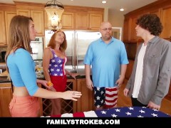 FamilyStrokes – 4th Of July BBQ Turns Into Sibling Fuckfest