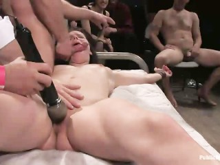 Video Porn Asia Fucking, Bobbi Starr Helpless and Destroyed by Cocks and Crowd Orgy Bondage Hardcore