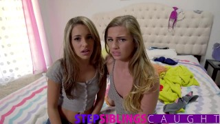 And step sister little in tiny teen brother share step threesome small teen