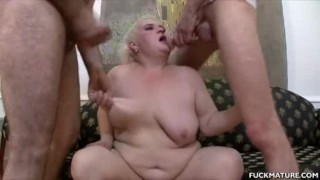Porn Tubes - Chunky Mature In A 3Some Gets Jizzed