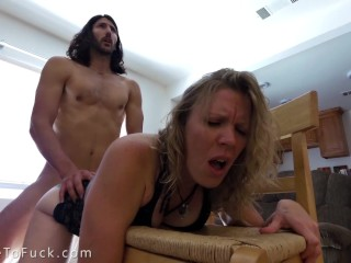 My Dripping Wet Pussy Makes Him Cum So Hard - Closeup Creampie