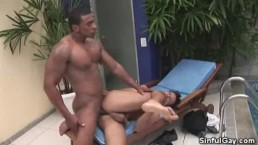 Red Hot Poolside Ass Fucking And Cumshots