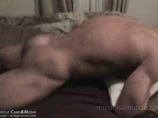 Huge Cum Load Frank The Tank Muscle Shrine - JockMenLive.com