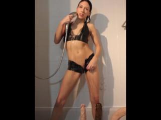 Latex Shower Tease  (tinyurl.com/KokoManyVids)