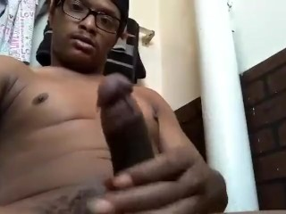 In The Bathroom Playing With My Dick