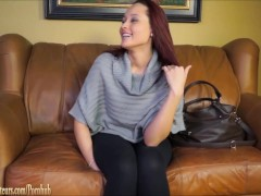 Girls go lesbian with toys on casting couch at BrandNewAmateurs