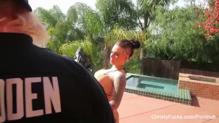 Behind the scenes with pornstar Christy Mack