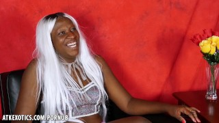 Osa tells you her first time getting dick in the ass  interview story hippy atkexotics black