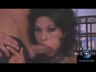 Viktoria enjoys leather and bondage plus deep penetration