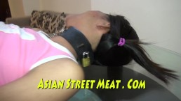 Shackled Thai Submissive Submits For Sperm And Cash