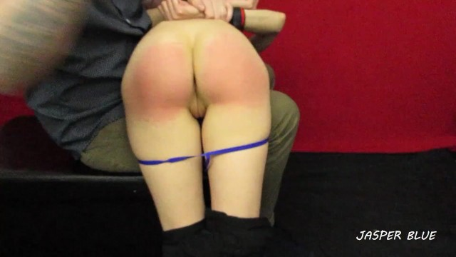 Scolded and spanked otk Girlfriend otk spank