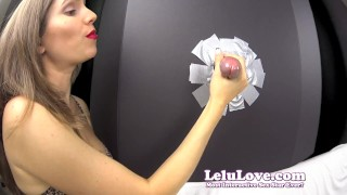 Lelu Love-Gloryhole Blowjob Cumshot In YOUR Face  homemade hd amateur blowjob cumshot fetish hardcore handjob brunette lelu natural tits bisexual femdom feminization domination closeups lelu love