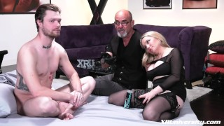 Pegging with Mike Panic femdom pegging-strapon bdsm pegging femdom-pegging natural-tits femdom-strapon