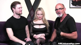 Pegging with Mike Panic  pegging strapon femdom pegging natural tits femdom strapon bdsm pegging
