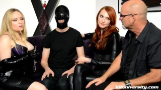 FemDom with Kendra James and Aiden Starr  jay wimp female domination natural tits bdsm femdom