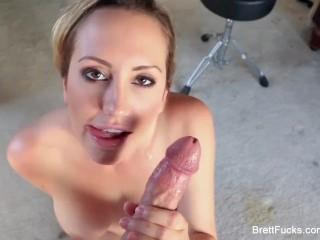 Blonde Brett Rossi gives an amazing POV blowjob