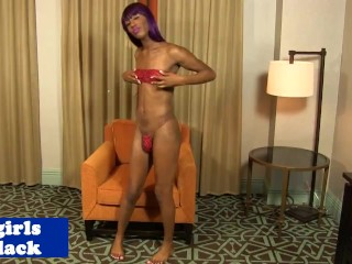 Perfect ebony tranny ass tube