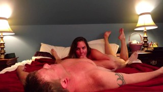 Preview 2 of Slut fucks her man and takes facial like the whore she is...