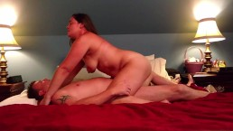 Slut fucks her man and takes facial like the whore she is...