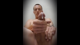 Man masterbating in public bathroom!