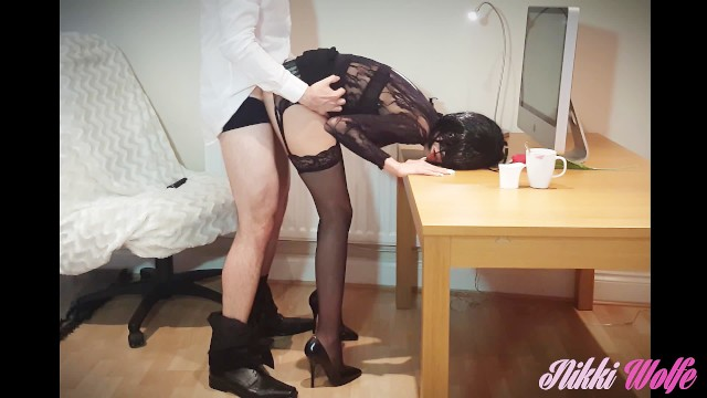Leg secretary sexy - Incredibly hot and slutty secretary you can only dream would work for you