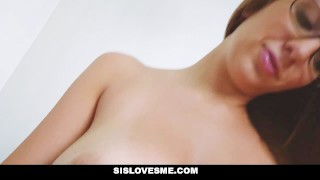 SisLovesMe - Big Tit Step Sis Asking For More  brunette pierced sislovesme facialize facial glasses sloppy natural cumshot tattoo busty