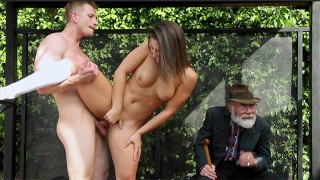 Abella Danger gets Bus bench creepin by Bill Bailey