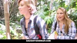 Preview 2 of DaughterSwap- Horny Daughters Fuck Dads on Camping Trip