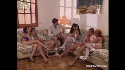DP Orgy With Three Sluts