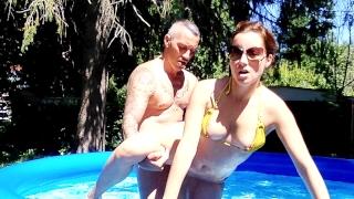 perfect cock jordan fucks outdoors by pool