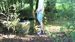 pissing in a public water tank