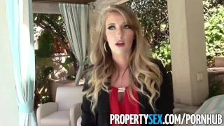 PropertySex Unboxing video turns into sex with hot ass real estate agent