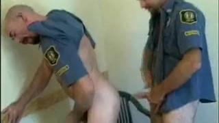 Cops bear lovin' cock uniform bj