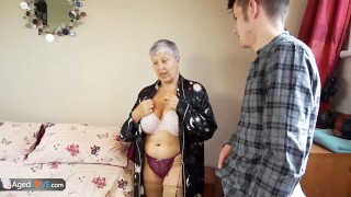 Old lady Savana fucked by student Sam Bourne by AgedLove Point mother