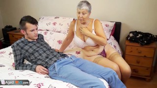 Old lady Savana fucked by student Sam Bourne by AgedLove porno