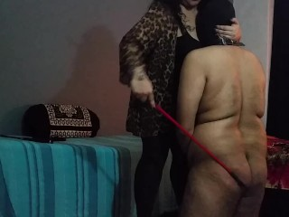BBW Mistress Makali Smothers loser with Her massive tits