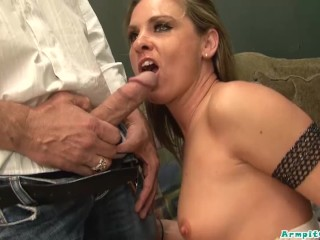 Milf Amanda Blow is craving BIG cock and she orders some fat white cock