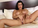 Briana lee with huge knockers shows how she plays with that pussy for u