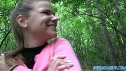 PublicAgent jovencita inocentona follando en el bosque
