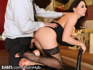 Milf bent over desk