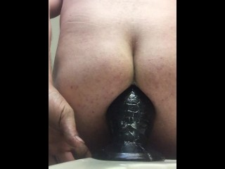 """Overstretched male rides his 3.5"""" Tilapia Butt Plug"""