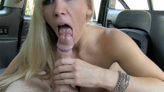 Blonde MILF offers her pussy and ass for a free taxi ride