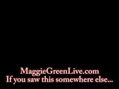 Busty Blonde Maggie Green Cums under Palm Tree!