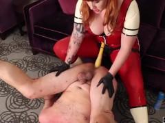 Anal Punishment - Pegging strap on femdom sissy sluts Julie Simone fetish