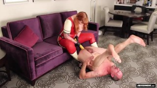 Anal Punishment - Pegging strap on femdom sissy sluts Julie Simone fetish  female supremacy pegging redhead femdom fetish-sex mom big-boobs fake-tits strap-on female-domination ass-fuck kink mother anal sissy-slut