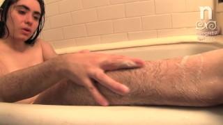 Super Hairy Kisa Fae Bath Tub Soap and Masturbate