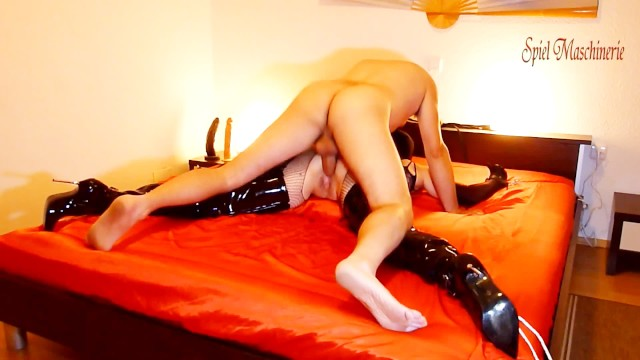 Open thigh sluts 2.spread eagle bondaged slut in thigh high boots - hard ramming whipping