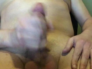 Guy cumming alone at home