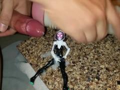 Cum on figurine fetish. Spider Gwen. Gwen Stacy