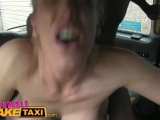 FemaleFakeTaxi Busty blonde creampied by criminal after blowjob